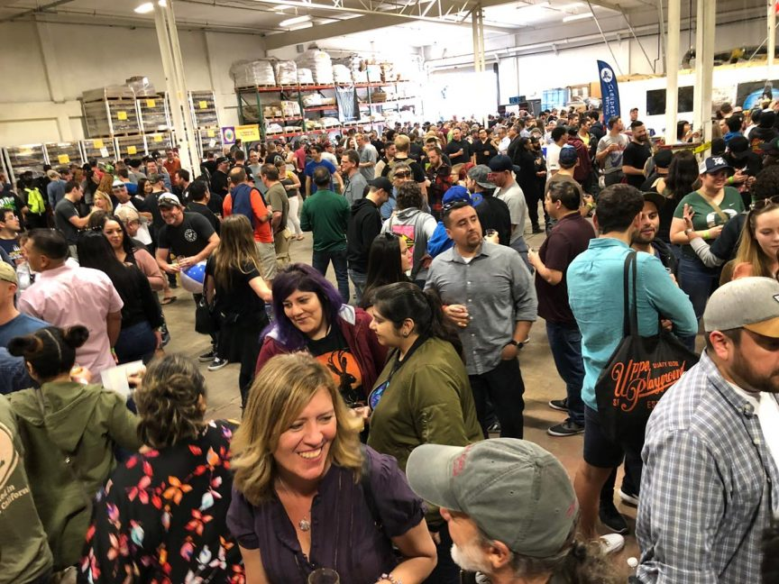 Crowd at Meet the brewers event.